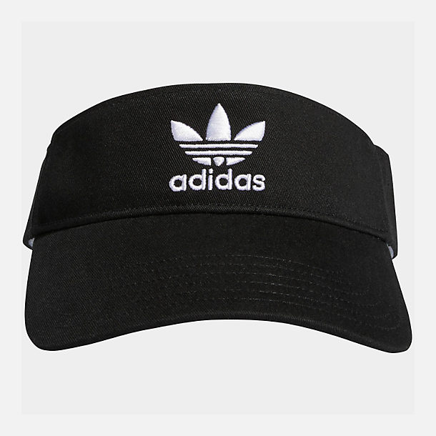 Back view of adidas Originals Twill Visor in Black/White