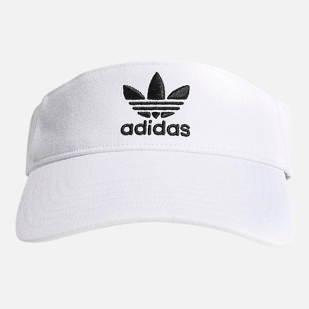 Back view of adidas Originals Twill Visor in White/Black