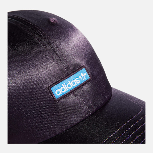 Alternate view of Women's adidas Originals Precurved Relaxed Fit Metallic Strapback Hat in Active Purple/True Blue