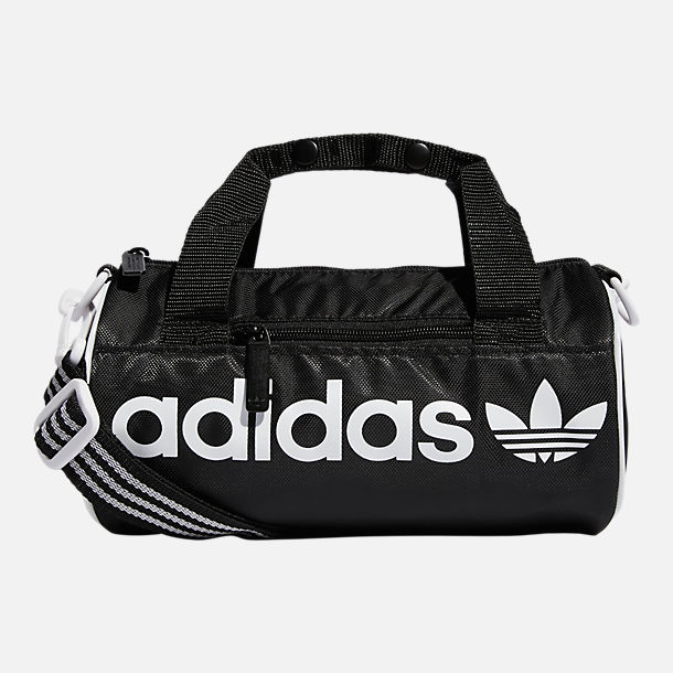 Front view of adidas Originals Santiago Mini Duffel Bag in Black 41df7e228bb32