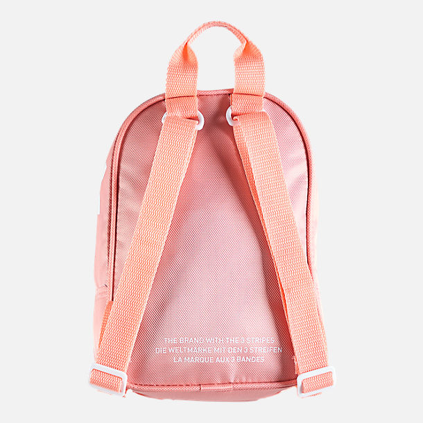 Back view of Women's adidas Originals Santiago Mini Backpack in Pink