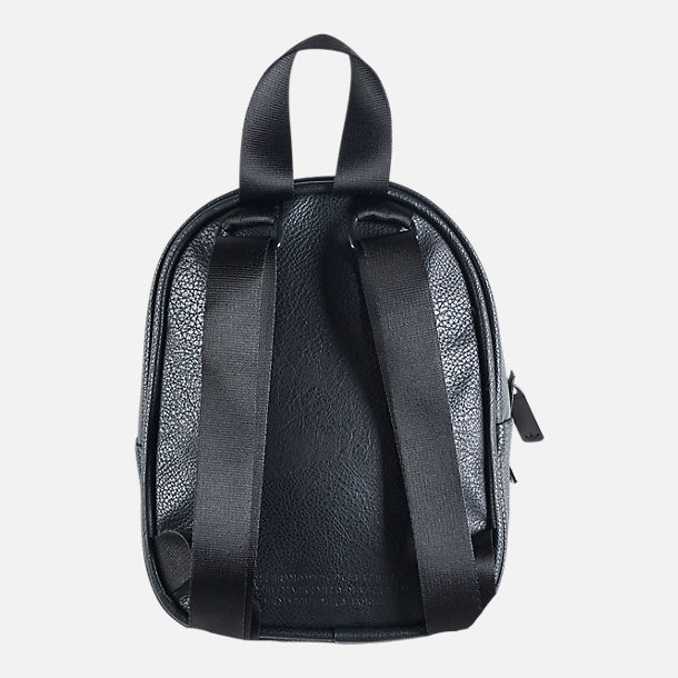 Back view of Women s adidas Originals Faux Leather Mini Backpack in Black  Gold b7e763be99782