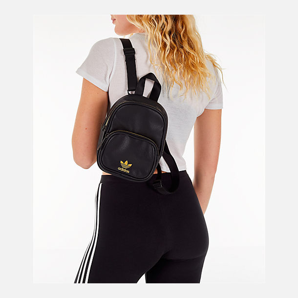 7b4f27d52259 Alternate view of Women s adidas Originals Faux Leather Mini Backpack in  Black Gold