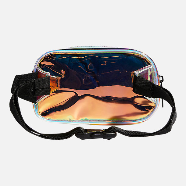 Back view of adidas Originals Iridescent Waist Pack in Radiant Metallic