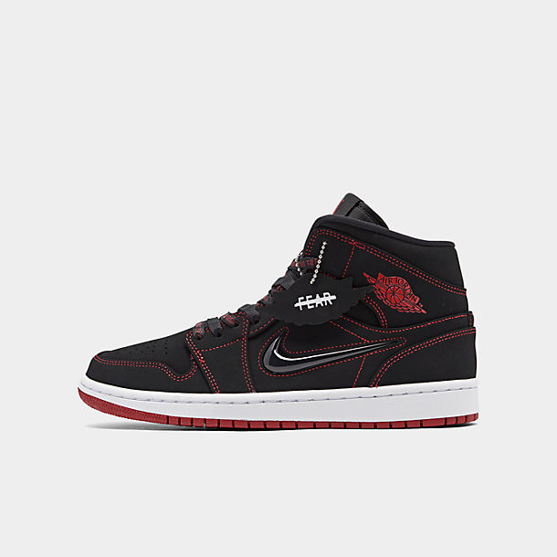 best new specials first rate Men's Air Jordan Retro 1 Mid Fearless Casual Shoes