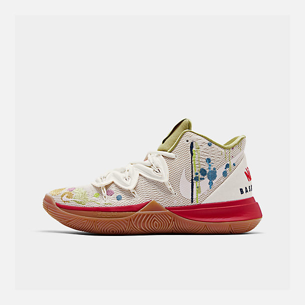 Right view of Men's Nike Kyrie 5 x Bandulu Basketball Shoes in Pale Ivory/Dark Orchid