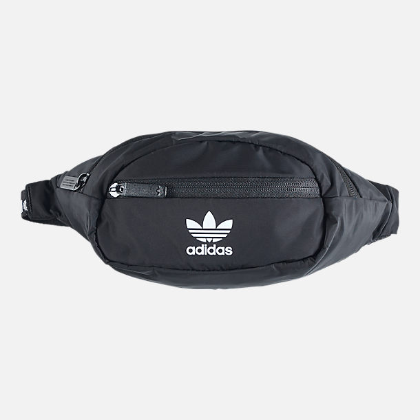 Front view of adidas Originals Waistpack in Black/White