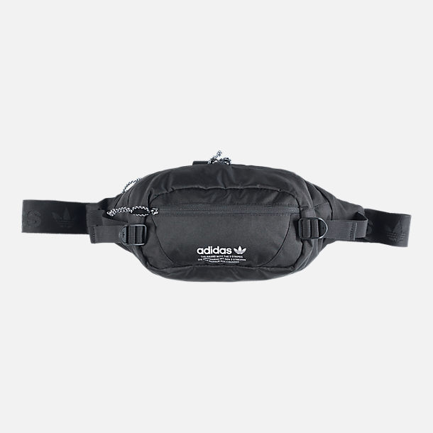 ea3cd3a2d9 Front view of adidas Originals Utility Crossbody Waist Pack in Black