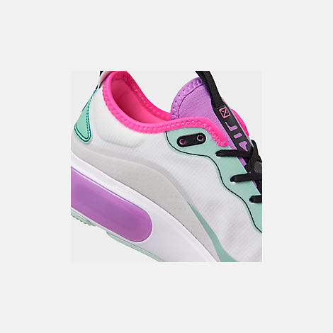 Front view of Women's Nike Air Max DIA Casual Shoes in Platinum Tint/Bright Violet/Black