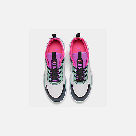 Back view of Women's Nike Air Max DIA Casual Shoes in Platinum Tint/Bright Violet/Black