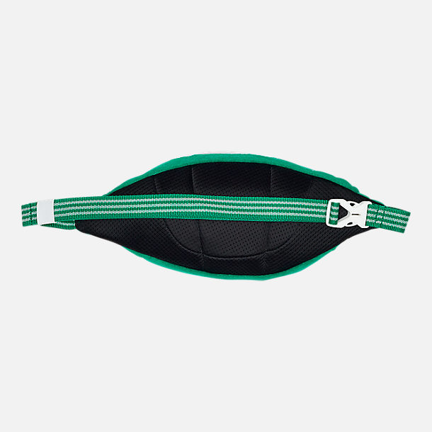 Back view of adidas Originals Terry Waist Pack in Fairway Green/White
