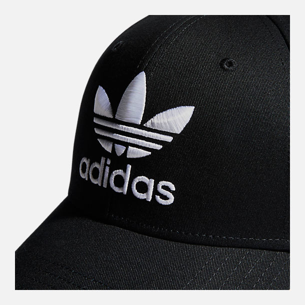 Alternate view of adidas Originals Precurved Icon Snapback Hat in Black/White