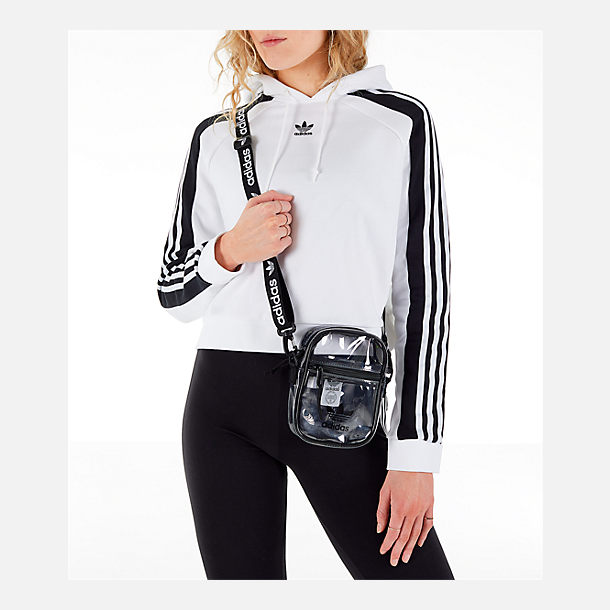 1fc242d3cc Back view of adidas Originals Clear Festival Crossbody Bag in Clear/Black
