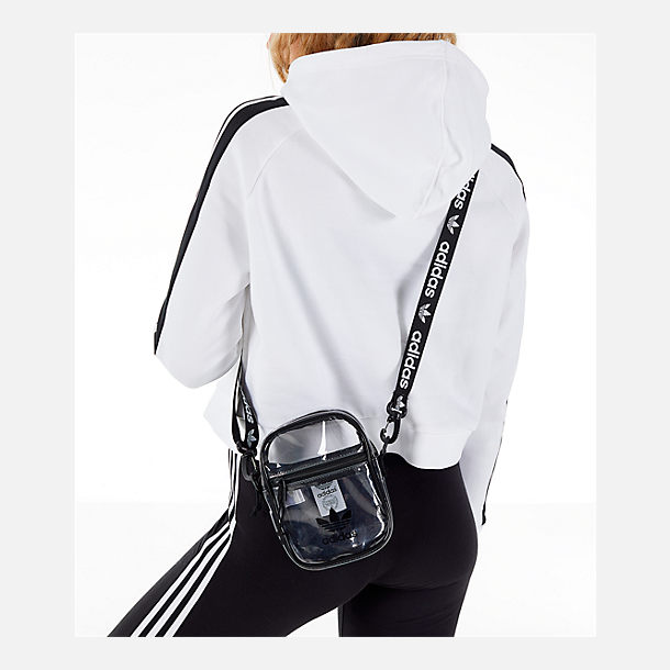 Alternate view of adidas Originals Clear Festival Crossbody Bag in  Clear Black 243178a889f3a