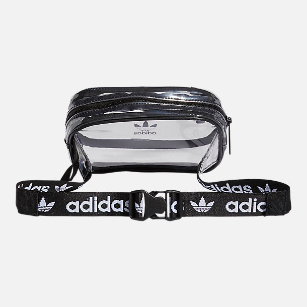 Back view of adidas Originals Clear Waist Pack in Black/Clear