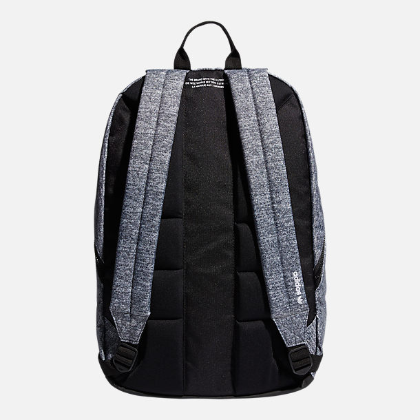 Back view of adidas Originals National 3-Stripes Backpack in Grey
