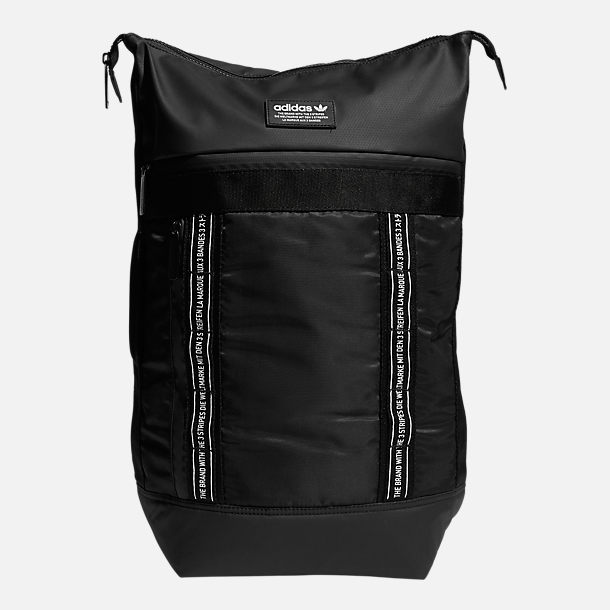 Front view of adidas Originals Future Backpack in Black/White