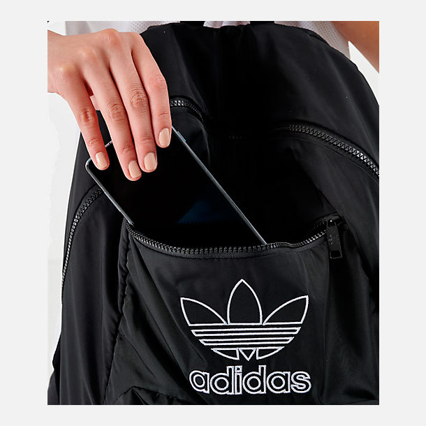 Alternate view of adidas Originals National 3-Stripes Backpack in Black/White