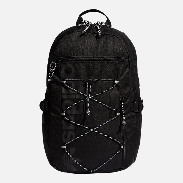 Front view of adidas Originals Bungee Backpack in Black