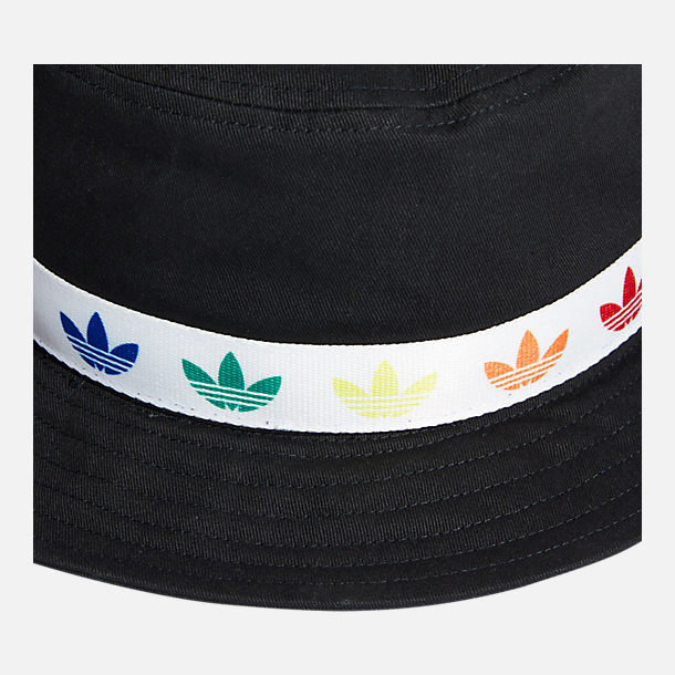 Alternate view of adidas Originals Pride Bucket Hat in Black/White/Rainbow