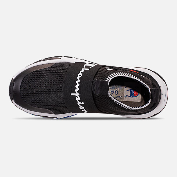7822f734058acb Top view of Boys  Big Kids  Champion Rally Pro Casual Shoes in Black