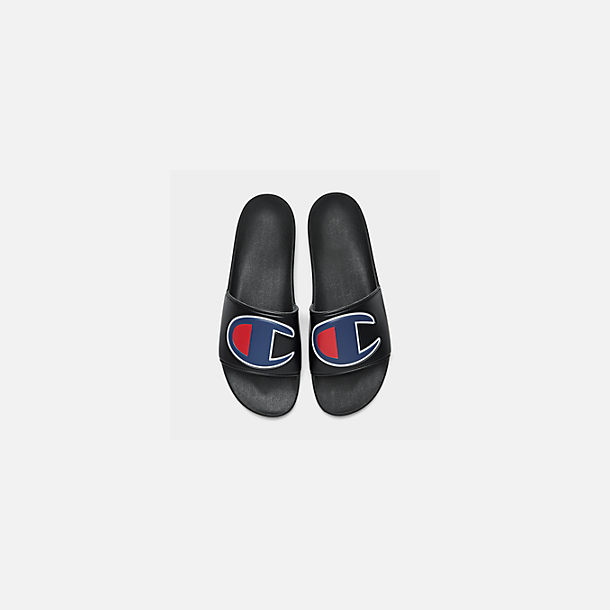 1034a966f05 Back view of Men s Champion IPO Slide Sandals in Black