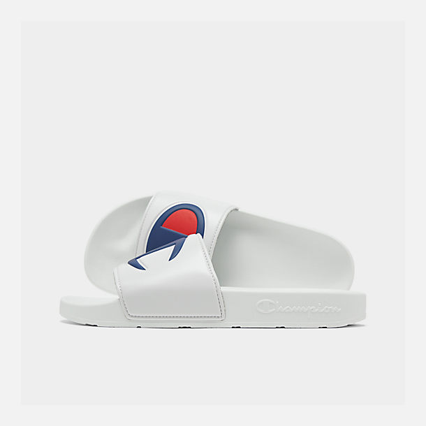 888da76377db3 Right view of Men s Champion IPO Slide Sandals in White White