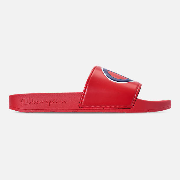 20644165a00e7 Right view of Men s Champion IPO Slide Sandals in Red Red