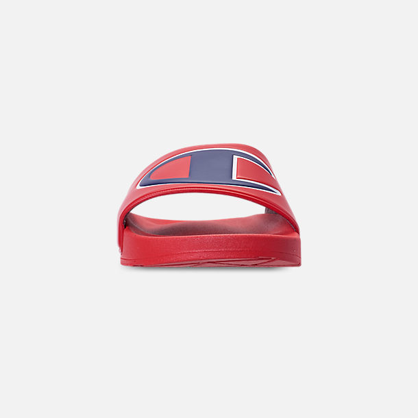 775e609d825 Front view of Men s Champion IPO Slide Sandals in Red Red