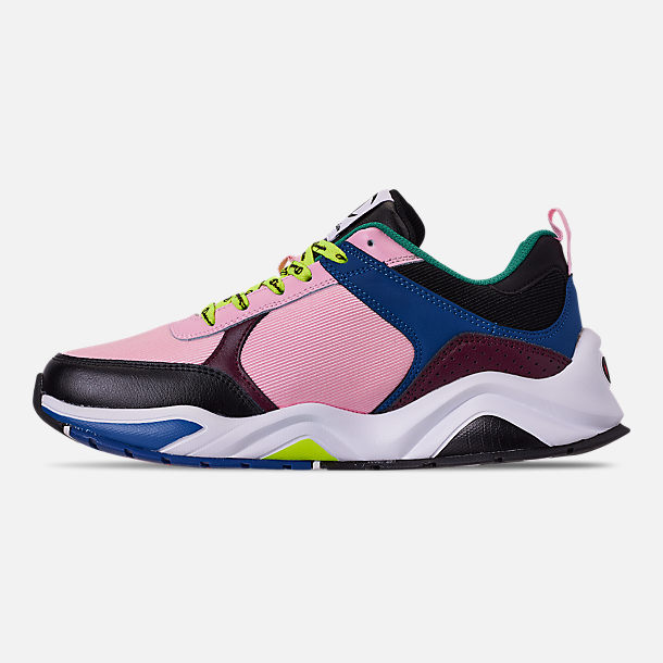 ba0b878574a Left view of Men s Champion 93Eighteen Casual Shoes in Pink Multi