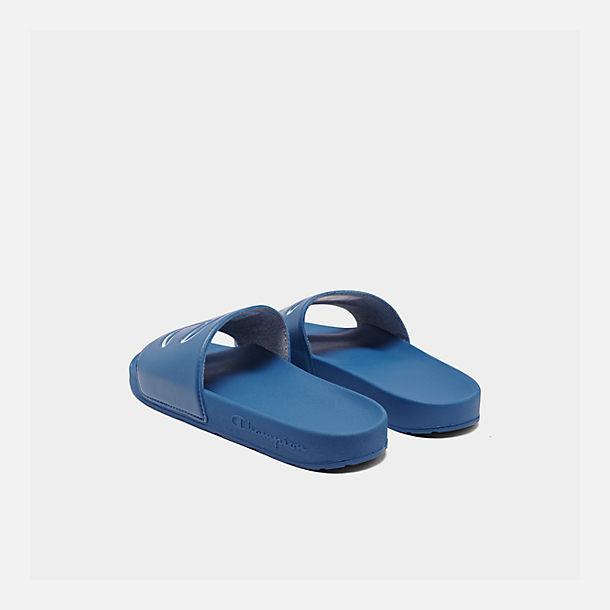 efec4676f412e Left view of Men s Champion IPO Slide Sandals in White