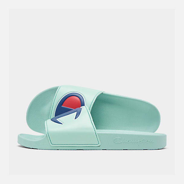 e7b59afabd1 Right view of Men s Champion IPO Slide Sandals in Waterfall Green