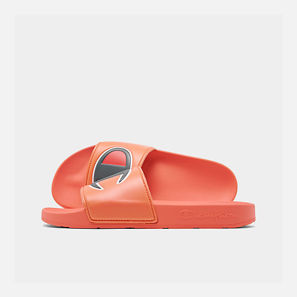 50ee35d6290 Right view of Men s Champion IPO Slide Sandals in Groovy Papaya
