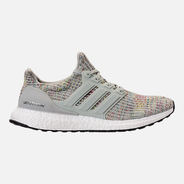 Right view of Men's adidas UltraBOOST Running Shoes in Ash Silver/Carbon/Core Black