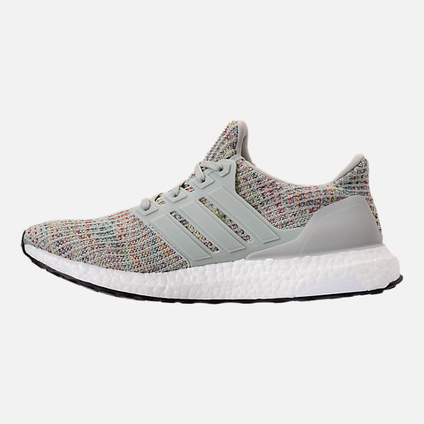 Left view of Men's adidas UltraBOOST Running Shoes in Ash Silver/Carbon/Core Black