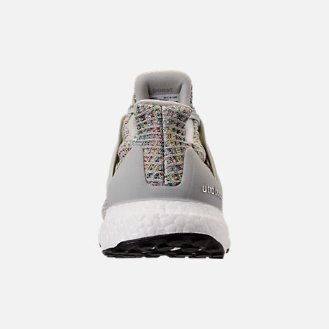 san francisco 53be7 81ee7 Back view of Men s adidas UltraBOOST Running Shoes in Ash Silver Carbon Core  Black
