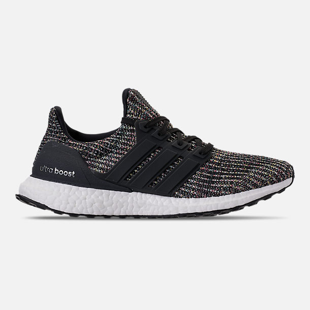 Right view of Men's adidas UltraBOOST Running Shoes in Core Black/Carbon/Ash Silver