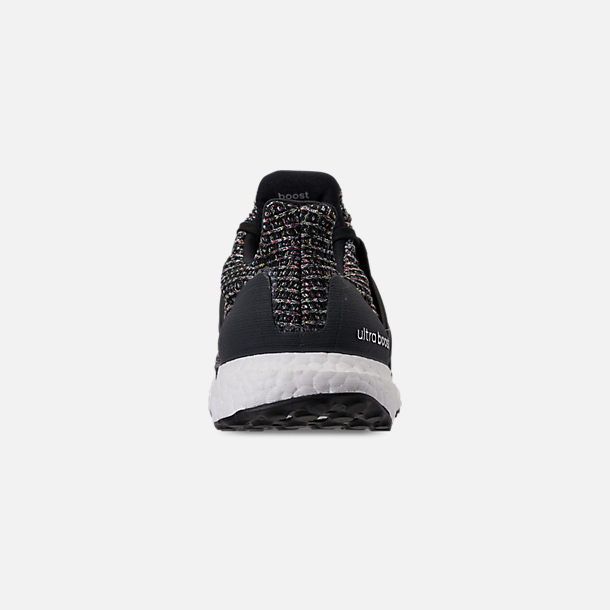 Back view of Men's adidas UltraBOOST Running Shoes in Core Black/Carbon/Ash Silver