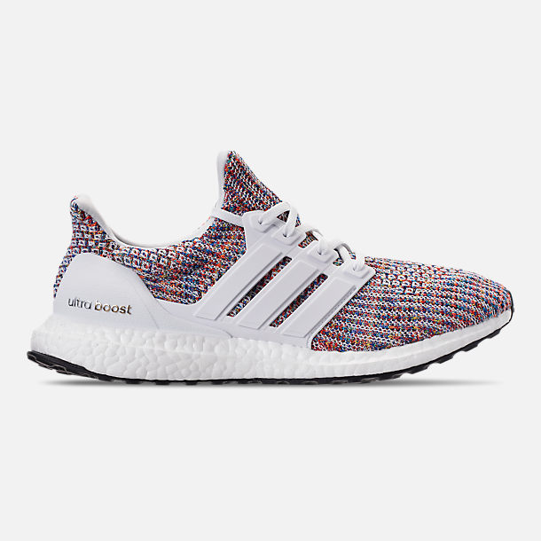 Right view of Men's adidas UltraBOOST Running Shoes in Footwear White/Collegiate Navy