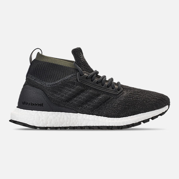 Right view of Men's adidas UltraBOOST ATR Mid Running Shoes in Carbon/Core Black/Footwear White