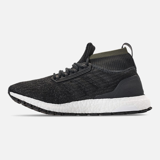Left view of Men's adidas UltraBOOST ATR Mid Running Shoes in Carbon/Core Black/Footwear White