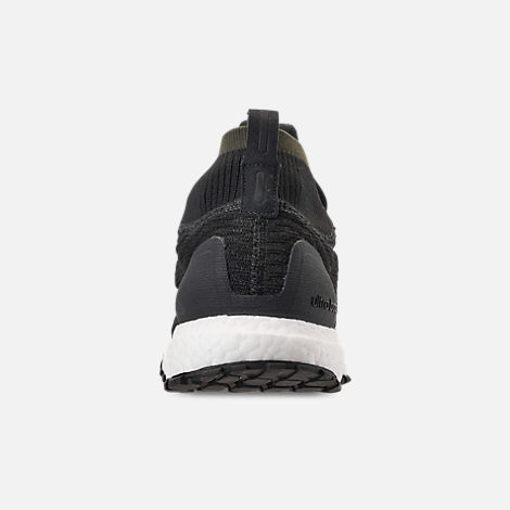 Back view of Men's adidas UltraBOOST ATR Mid Running Shoes in Carbon/Core Black/Footwear White