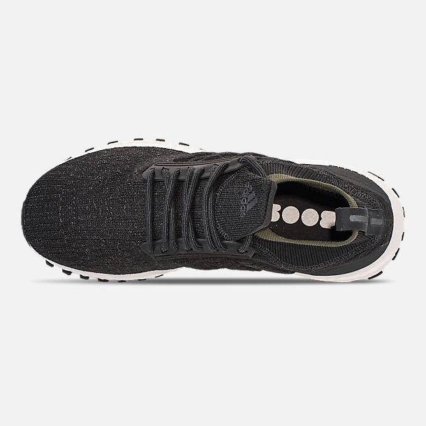 Top view of Men's adidas UltraBOOST ATR Mid Running Shoes in Carbon/Core Black/Footwear White