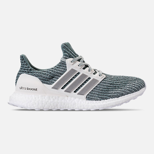 Right view of Men's adidas UltraBOOST x Parley Running Shoes in Ocean Blue/White/Silver
