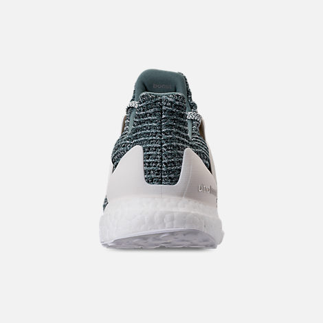 Back view of Men's adidas UltraBOOST x Parley Running Shoes in Ocean Blue/White/Silver