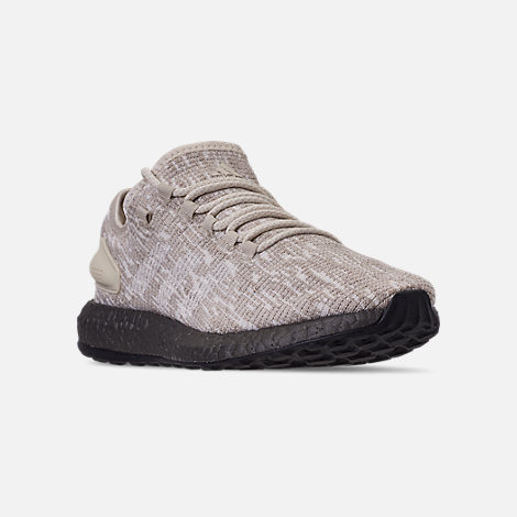 0be8e4d9cabe0 Three Quarter view of Men s adidas PureBOOST CB Running Shoes in Clear  Brown Footwear White