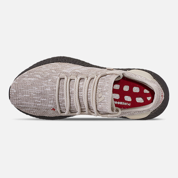 84a420ed96b27 Top view of Men s adidas PureBOOST CB Running Shoes in Clear Brown Footwear  White