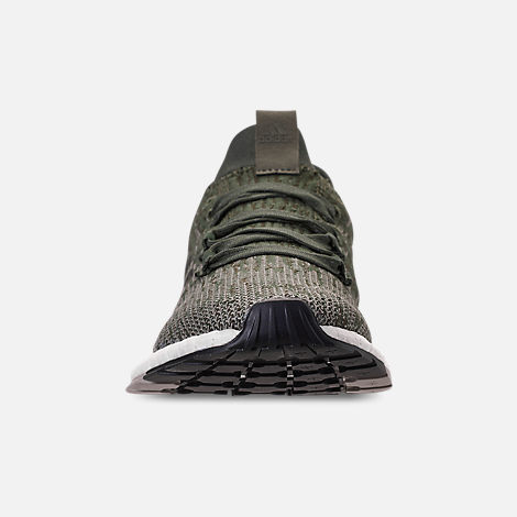 Front view of Men s adidas PureBOOST RBL Running Shoes in Base Green Core  Black  f5832a4ac