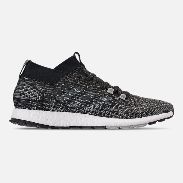 Right view of Men's adidas PureBOOST RBL LTD Running Shoes in Core Black/Grey/Ash Silver