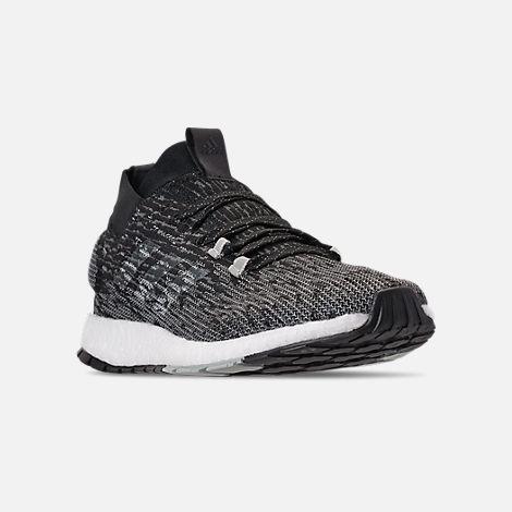 ff91e00d1cc Three Quarter view of Men s adidas PureBOOST RBL LTD Running Shoes in Core  Black Grey